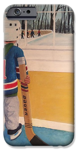 Stanley Cup Paintings iPhone Cases - Im Ready iPhone Case by Ron  Genest