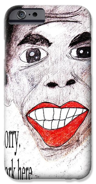 Barack Obama Drawings iPhone Cases - Im sorry. I dont work here. iPhone Case by Donna Daugherty