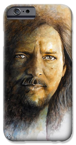 Pearl Jam Paintings iPhone Cases - Im Still Alive iPhone Case by William Walts