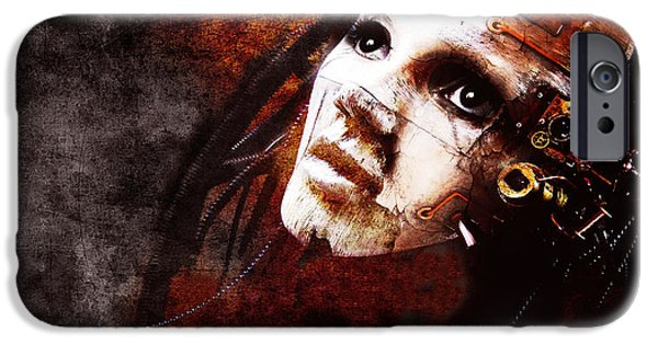 Conceptual Mixed Media iPhone Cases - Im Still Here iPhone Case by Photodream Art
