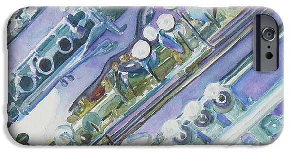 Swing Paintings iPhone Cases - Im Still Painting on the Keys iPhone Case by Jenny Armitage
