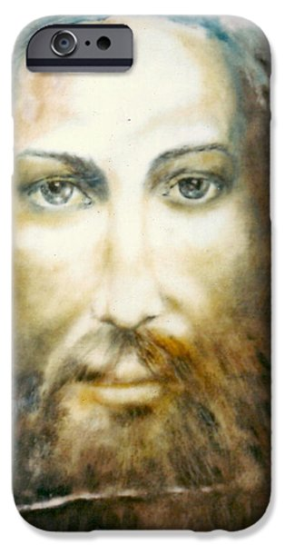 Altruism Paintings iPhone Cases - Image of Christ iPhone Case by Henryk Gorecki