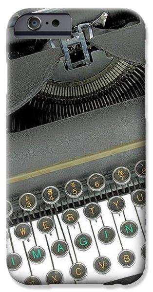 Imagination typewriter iPhone Case by Rudy Umans