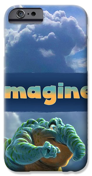 Creature iPhone Cases - Imagine iPhone Case by Aaron Blaise