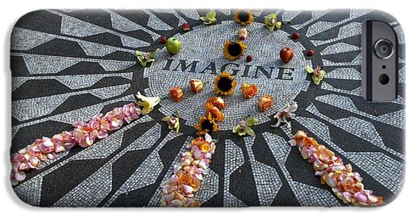 Beatles iPhone Cases - Imagine iPhone Case by Alida Thorpe