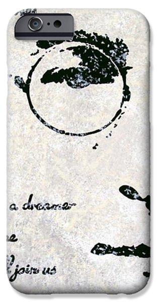 Imagine-John Lennon iPhone Case by Bryan Dubreuiel