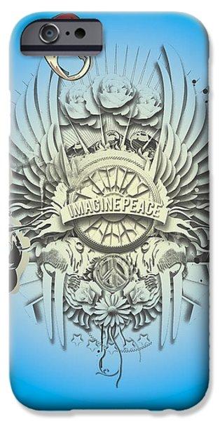 Beatles iPhone Cases - Imagine Lennon iPhone Case by Pop Culture Prophet