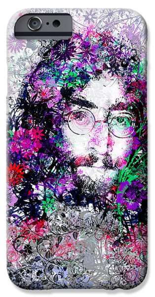 Celebrities Art iPhone Cases - Imagine iPhone Case by MB Art factory