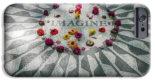 Beatles iPhone Cases - John Lennon Memorial iPhone Case by Steven Sparks