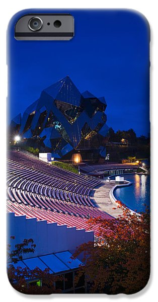 Multimedia iPhone Cases - Imax Theater, Futuroscope Science Park iPhone Case by Panoramic Images