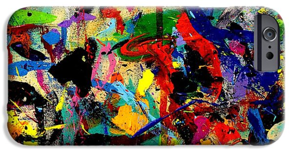Abstract Expressionism iPhone Cases - Imma 53 iPhone Case by John  Nolan