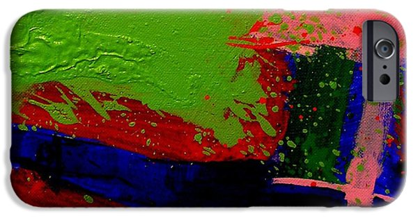 Celebration Paintings iPhone Cases - Imma   Iii iPhone Case by John  Nolan