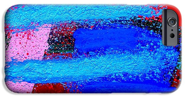 Abstract Expressionism iPhone Cases - Imma   Iv iPhone Case by John  Nolan