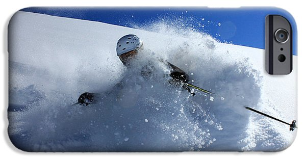 Adrenaline iPhone Cases - Immersed in Powder iPhone Case by Johnny Adolphson