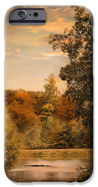 Autumn Scenes iPhone Cases - Impending Autumn iPhone Case by Jai Johnson