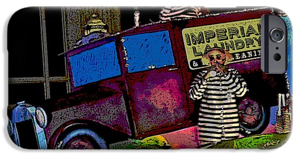 Stripes iPhone Cases - Imperial Laundry Truck iPhone Case by Marian Bell