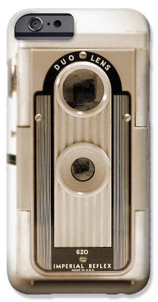 Duo Tone iPhone Cases - Imperial Reflex Camera iPhone Case by Mike McGlothlen