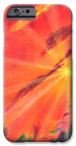 Sun Rays Pastels iPhone Cases - Impermanence iPhone Case by Jim Ditto