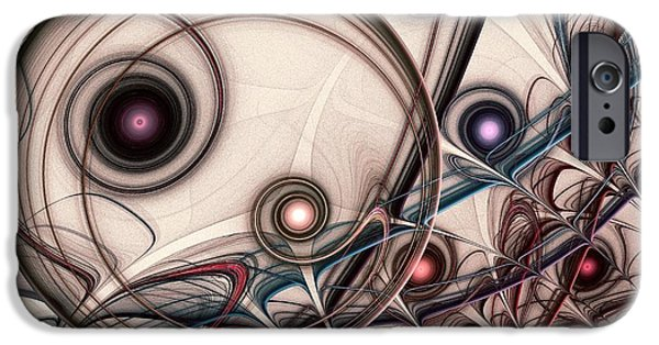 Dream Digital Art iPhone Cases - Implantation iPhone Case by Anastasiya Malakhova