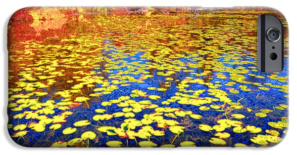 Waterlily iPhone Cases - Impression of Waterlily Pond iPhone Case by Charline Xia