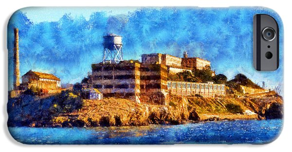 Alcatraz iPhone Cases - Impressionist Alcatraz iPhone Case by Kaylee Mason