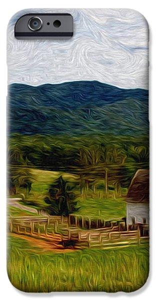 Impressionist Farming iPhone Case by John Haldane