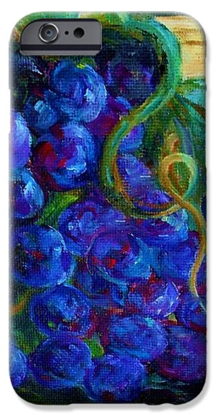 Impressionist Grapes and Wine iPhone Case by Eloise Schneider