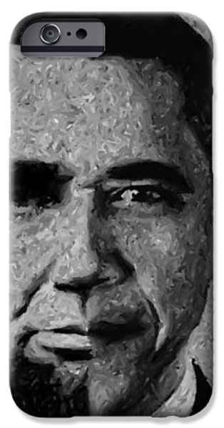 Impressionist Interpretation of Lincoln Becoming Obama iPhone Case by Michael Braham