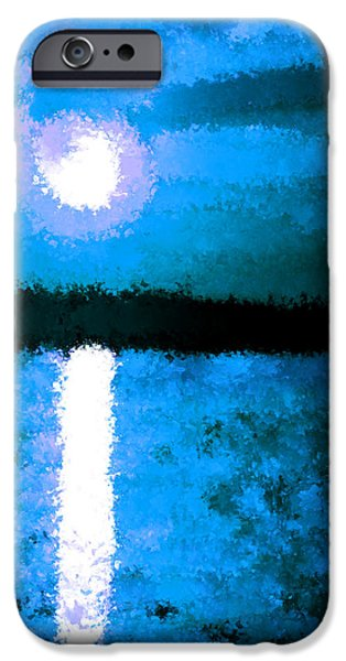 Planetoid Paintings iPhone Cases - Impressionist Moonlight iPhone Case by Bruce Nutting