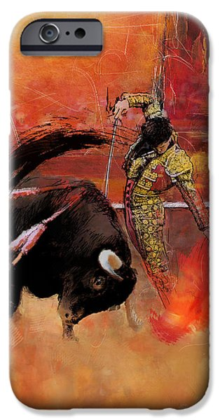 Impressionistic Bullfighting iPhone Case by Corporate Art Task Force