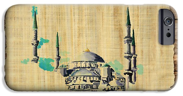 Jordan iPhone Cases - Impressionistic Masjid e Nabwi iPhone Case by Catf