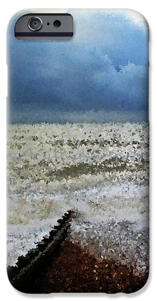 Impressionistic ocean iPhone Case by Sharon Lisa Clarke