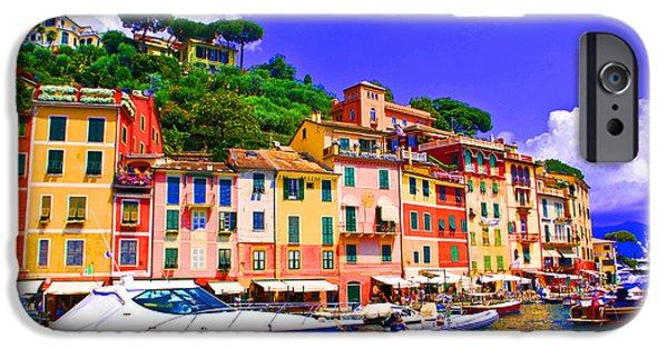 Genoa iPhone Cases - Impressionistic photo paint GS 012 iPhone Case by Catf