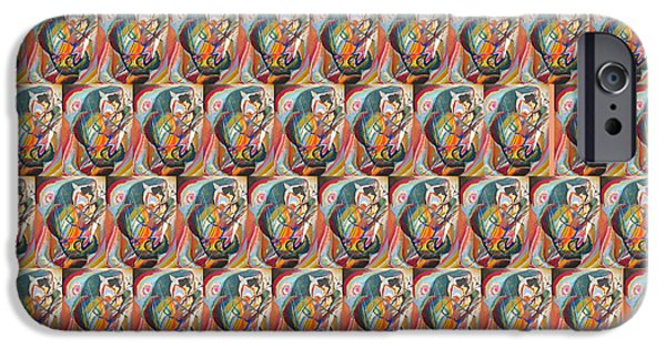 Bed Spread iPhone Cases - Improvisation III Collage 4 iPhone Case by Wassily Kandinsky