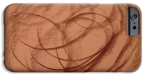 Inner World Drawings iPhone Cases - In A Different World iPhone Case by Erica  Darknell