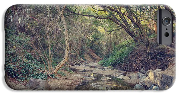 Creek iPhone Cases - In a Fairytale iPhone Case by Laurie Search