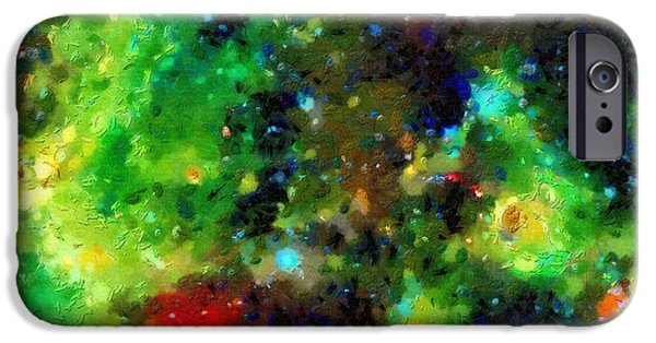 Outer Space Paintings iPhone Cases - In a parseks from the Earth iPhone Case by Magomed Magomedagaev