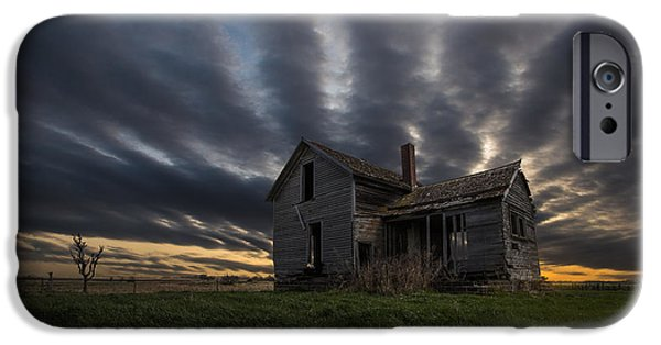 Abandoned House iPhone Cases - In a past life iPhone Case by Aaron J Groen