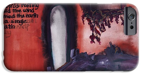 Cabin Window Paintings iPhone Cases - In a Single Breath iPhone Case by Barbara St Jean