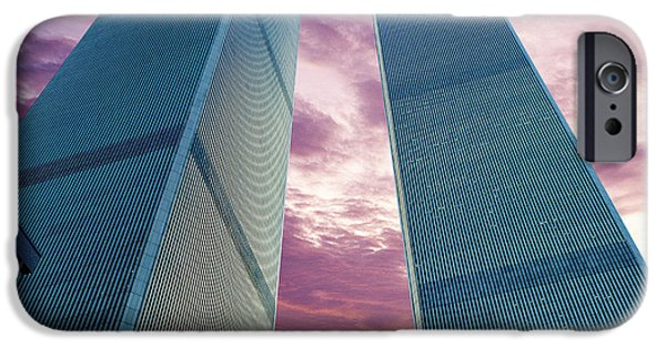Twin Towers Nyc iPhone Cases - In All Her Glory iPhone Case by Jon Neidert