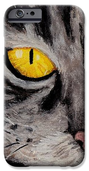 Pastel iPhone Cases - In Cats Eyes iPhone Case by Anastasiya Malakhova