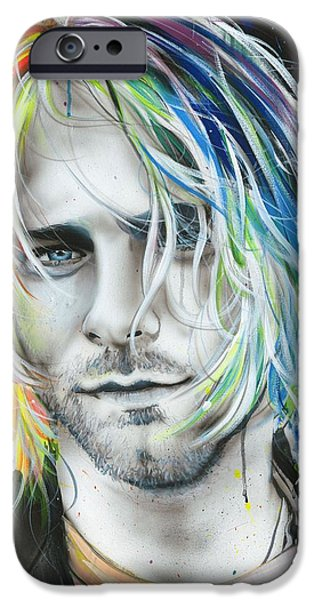 Celebrities Art Paintings iPhone Cases - In Debt for My Thirst iPhone Case by Christian Chapman Art