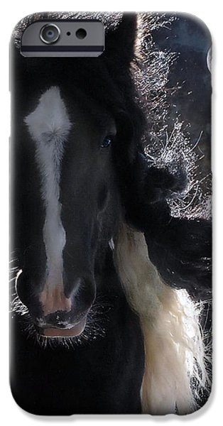 Horse Digital Art iPhone Cases - In Dreams... iPhone Case by Fran J Scott