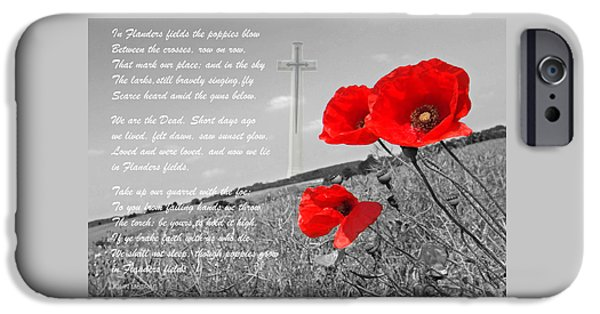 Recently Sold -  - Ww1 iPhone Cases - In Flanders Fields iPhone Case by Gill Billington