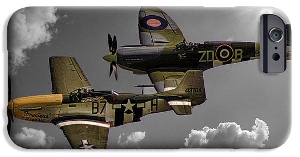 Planes Photographs iPhone Cases - In Flight iPhone Case by Martin Newman