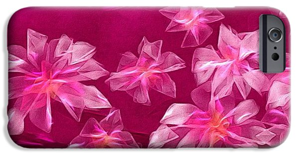 Abstract Digital Paintings iPhone Cases - In flower iPhone Case by Veronica Minozzi