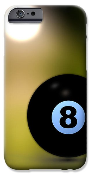 In Front of the eight ball iPhone Case by Bob Orsillo
