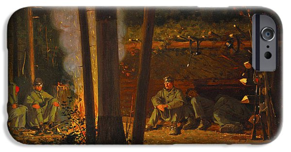 Yorktown Digital iPhone Cases - In Front Of Yorktown iPhone Case by Winslow Homer