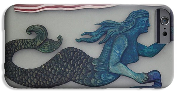 Little Reliefs iPhone Cases - In God We Trust Mermaid iPhone Case by James Neill