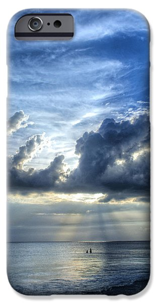 Ocean Sunset iPhone Cases - In Heavens Light - Beach Ocean Art by Sharon Cummings iPhone Case by Sharon Cummings
